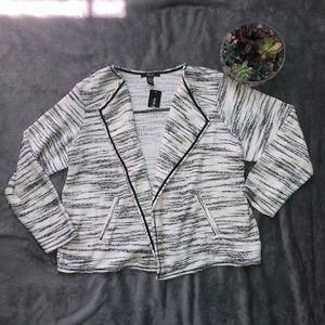Style & Co. black cream and white blazer size 2x